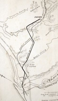 County of Westland N.Z. Road Arahura to Stafford Town. Line Map