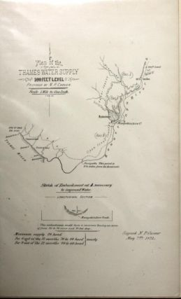 Plan of the Thames Water Supply, 100 Feet Level, Proposed By N.P. Carver - line Map
