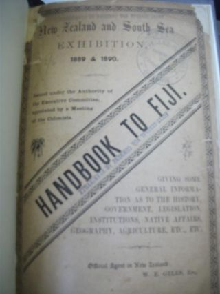 Handbook to Fiji. New Zealand and South Sea Exhibition, Dunedin, 1889-90