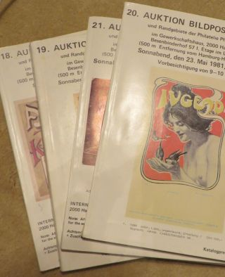 Postcard Auction Catalogues No 18, 19, 20 & 21. BERNHARD