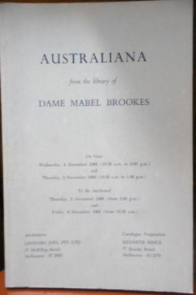 Australiana from the Library of Dame Mabel Brookes