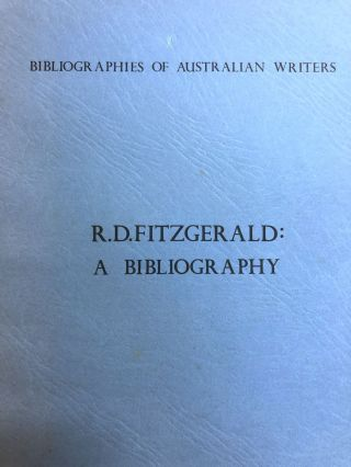 Bibliography of R.D. Fitzgerald