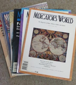 Mercator's World - The Magazine of Maps, Atlases, Globes and Charts. 6 Issues