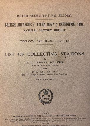 "List Of Collecting Stations. British Antarctic (""Terra Nova"") Expedition, 1910. Natural History..."