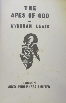 The Apes of God. Wyndham LEWIS