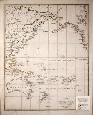A Chart Exhibiting the New Discoveries in the North & South Pacific Ocean, Also Those on The...