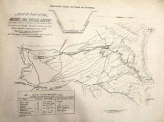 Sketch Plan of the Mount Ida Water Supply. Shewing Course of Proposed Flush Race and Direction of...