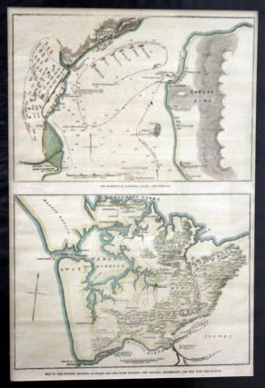 Map Of the Country Between Auckland and the River Waikato, New Zealand, Illustrating the War with...