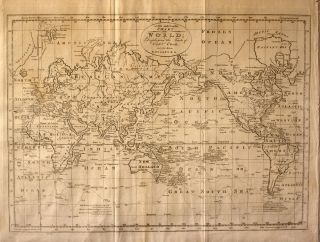 A New and Complete Chart of the World; Displaying the Tracks of Captn Cook, and Other Modern...