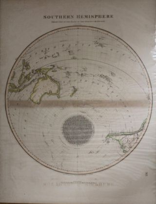 Southern Hemisphere Projected on the Plane of the Horizon of London. Projected & Engraved for Thomson's New General Atlas, 20th Sept 1816 No. 7. George BUCHANAN.