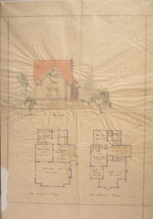 New Zealand Architectural Plan 'Elevation to Road' Illustration