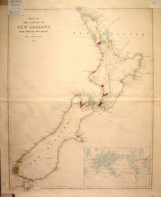 Map of the Colony of New Zealand from Official Documents By John Arrowsmith. 1844. John ARROWSMITH