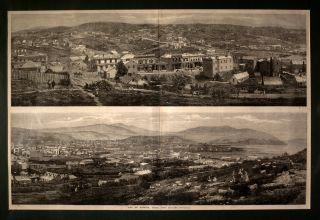 City of Dunedin, Otago, New Zealand Engravings