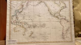 Chart of the Great Pacific Ocean or South Sea, to Illustrate the voyage of Discovery Made By the...