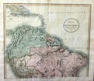 A New Map of South America from the Latest Authorities By John Cary, Engraver 1824. John CARY