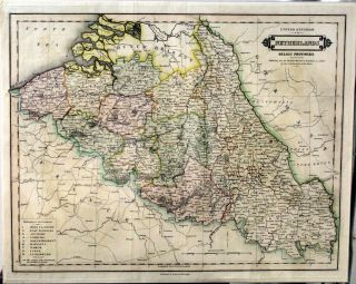 United Kingdom of the Netherlands Belgic Provinces. Exhibiting Also the Departments & Boundaries...