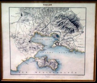 Toulon Map. Charles DYONNET