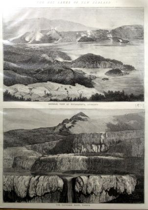 The Hot Lakes of New Zealand Engraving