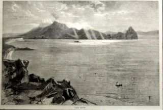 Lake Taupo Engraving