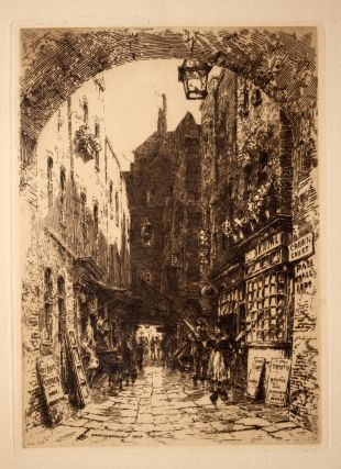 Pall Mall 1884 Etching. Ernest Sir GEORGE