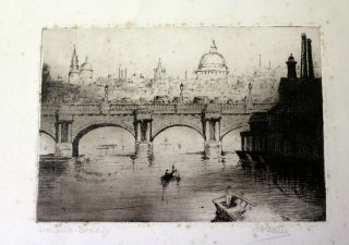 Waterloo Bridge Engraving