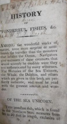 History of Wonderful Fishes