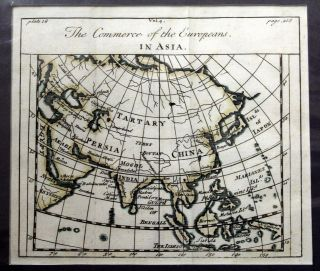 The Commerce of the Europeans in Asia Map. Alain Manesson MALLET