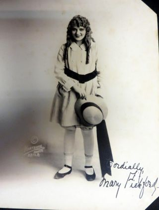 Mary Pickford Album. A Privately Collected Series of ... Large Photographs of Mary Pickford,