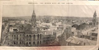 Adelaide, Queen City of the South. A new view showing the south eastern section of Adelaide,...