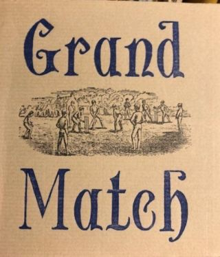 GRAND MATCH,between the All-England Eleven and the Twenty-Two of Canterbury 1864