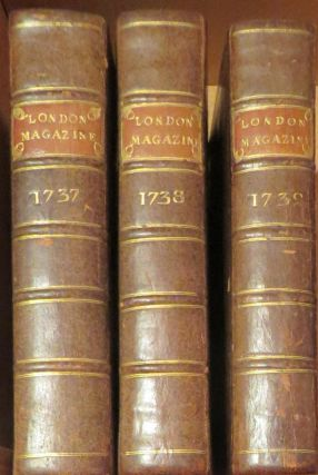 The London Magazine and Monthly Chronologer 3 volumes 1737, 1738, 1739