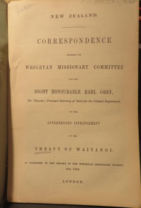Correspondence Between the Wesleyan Missionary Committee and the Right Honourable Earl Grey on...