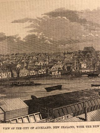 View of Auckland, With the New Commercial Embankment. Auckland