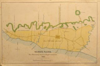 Waimate Plains Plan Illustrating Report of Royal Commission. 1880