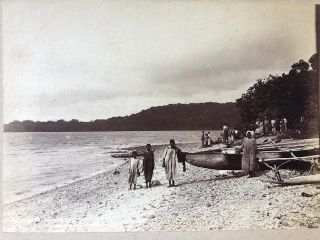 Natives on the Beach - [New Hebrides] Photograph