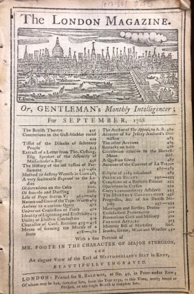 The London Magazine. or, Gentleman's Monthly Intelligencer; for September, 1768