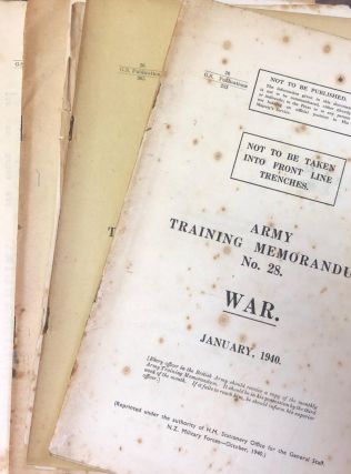 Army Training Memorandum. War