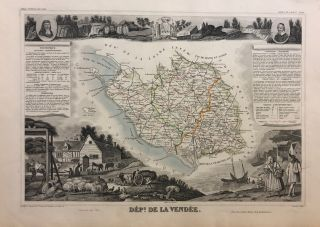 France. Dept de la Vendee. Atlas National Illustre. Levasseur