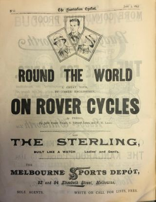 The Australian Cyclist. League of Victorian Wheelmen