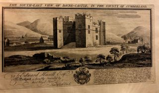 The South-East View of Dacre Castle, in the County of Cumberland. Samuel, Nathaniel Buck