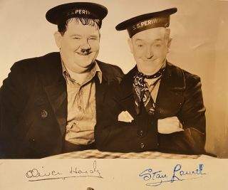 Photograph. Laurel, Hardy