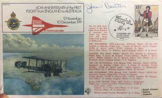 Signed First Day Cover. Jean Batten