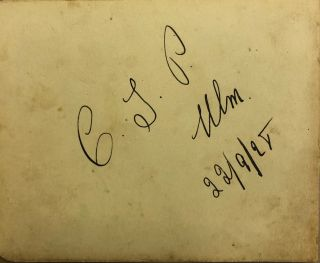 hand-written autograph. Charles Ulm