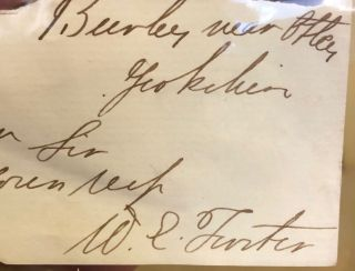 Signature. William Forster