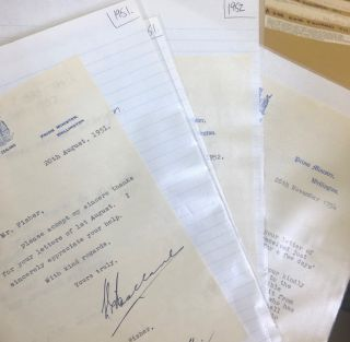 Signed letters. Sir Sydney Holland