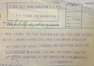 Telegram. Sir Sydney Holland
