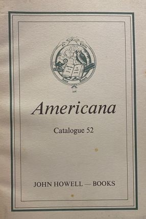 Americana. Catalogue