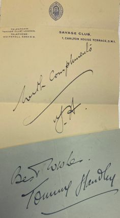 Autograph. Thomas Reginald Handley, Tommy