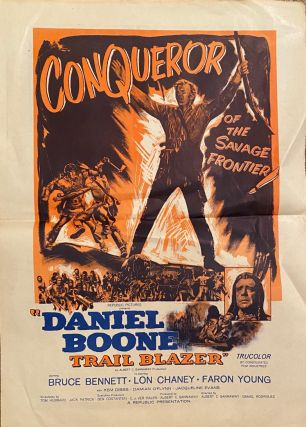 "Conqueror of the Savage Frontier ""Daniel Boone Trail Blazer"" Movie poster"