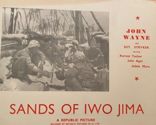 Sands of Iwo Jima - John Wayne. Movie poster